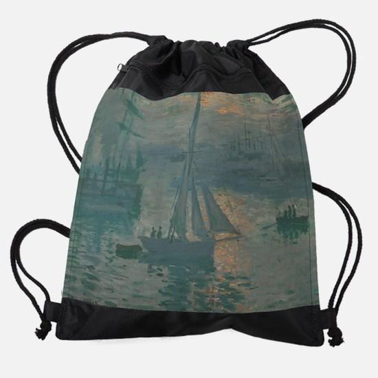 Claude Monet - Sunrise (Marine) Drawstring Bag