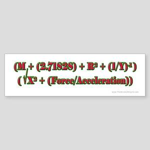 Merry Xmas Math Bumper Sticker