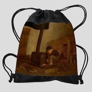 Eastman Johnson - The Early Scholar Drawstring Bag