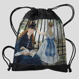Edouard Manet - The Railway Drawstring Bag