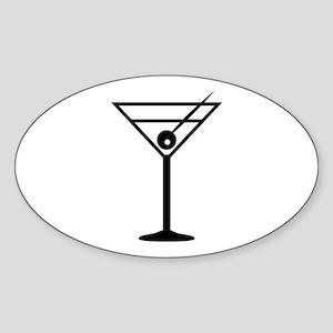 Martini Drink Icon Oval Sticker