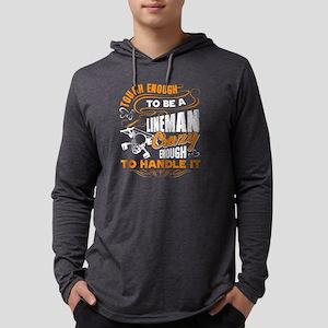 Lineman T-shirt Mens Hooded Shirt