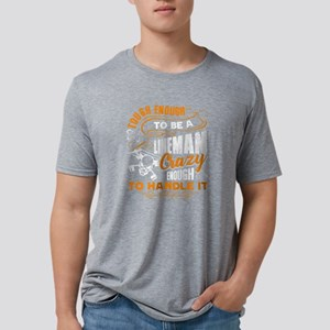 Lineman T-shirt Mens Tri-blend T-Shirt