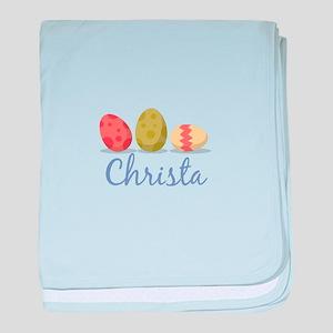 Easter Egg Christa baby blanket