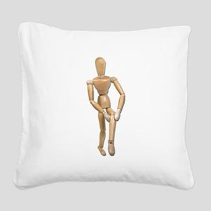 KneePain121211 Square Canvas Pillow