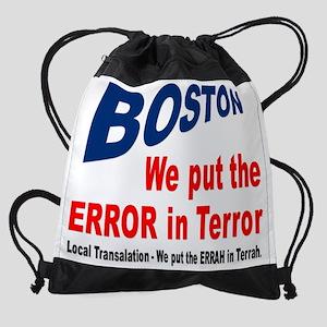Boston Terror ERROR Drawstring Bag
