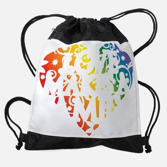 Love Makes A Family Drawstring Bag