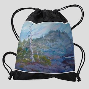 monheganlavendartree1 Drawstring Bag