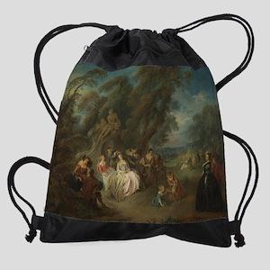 Jean-Baptiste Joseph Pater - Fete C Drawstring Bag