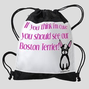 cutebostterriergirl Drawstring Bag