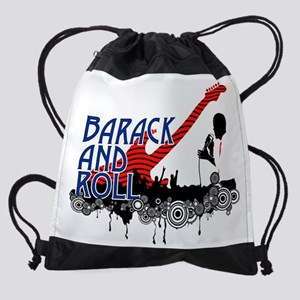 barack and roll Drawstring Bag