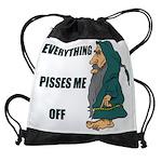 Druid PISSED.jpg Drawstring Bag