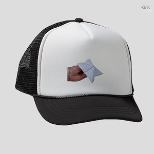 HoldingPaperDecisionMaker010212.p Kids Trucker hat