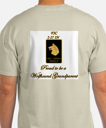 """2-27th IN """"Wolfhound"""" Grandparent Ash Grey T-Shirt"""