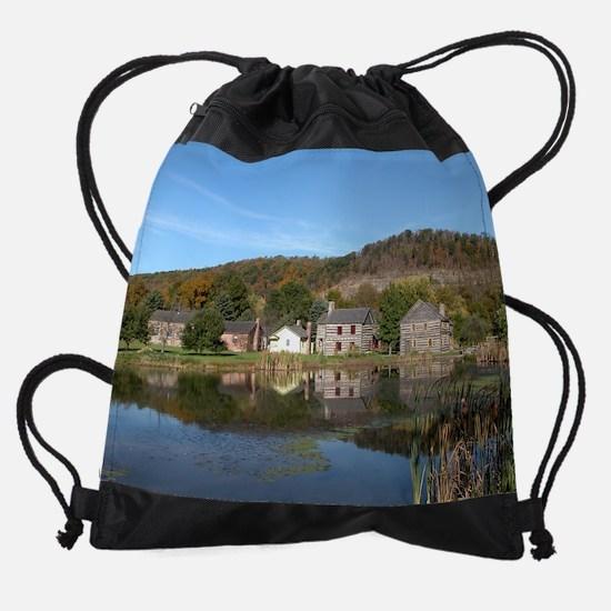 calendar village.jpg Drawstring Bag