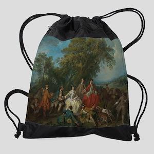 Picnic after the Hunt Drawstring Bag