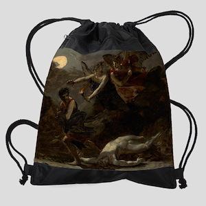 Justice and Divine Vengeance Pursui Drawstring Bag