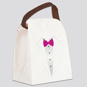 Tuxedo (pink) Canvas Lunch Bag