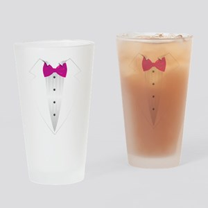 Tuxedo (pink) Drinking Glass