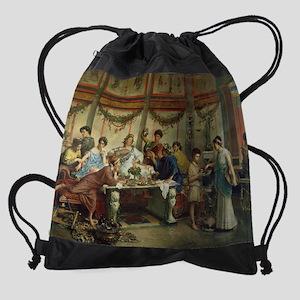 A Roman Feast Drawstring Bag