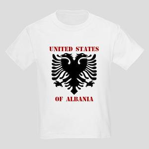 United States of Albania Kids T-Shirt