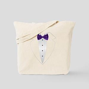 Tuxedo (violet) Tote Bag