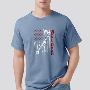 Welder Flag T-shirt Mens Comfort Colors Shirt
