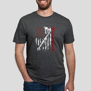 Welder Flag T-shirt Mens Tri-blend T-Shirt
