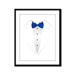 Tuxedo (blue) Framed Panel Print