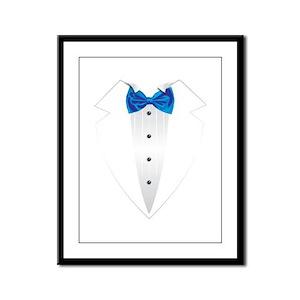 Tuxedo (lt blue) Framed Panel Print