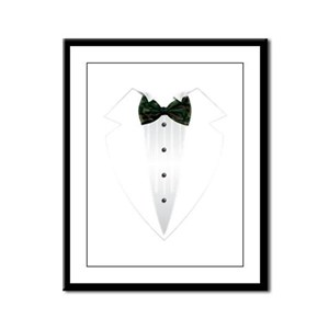 Tuxedo (woodland camo) Framed Panel Print