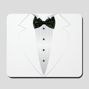 Tuxedo (woodland camo) Mousepad