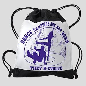 Womens_Circle_back_purple Drawstring Bag