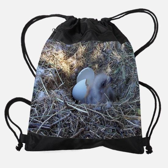 SR chick in nest Drawstring Bag