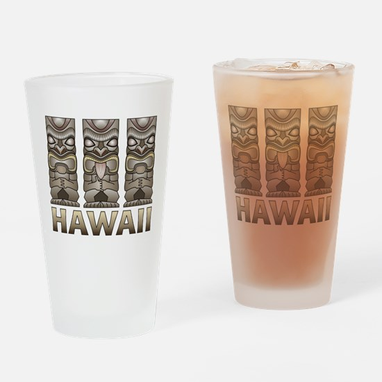 Hawaii Tiki Drinking Glass
