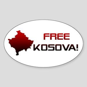 Free Kosova Oval Sticker