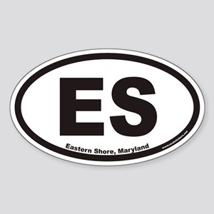 Eastern Shore of Maryland ES Euro Oval Sticker
