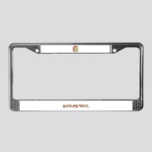 Safe as Milk License Plate Frame