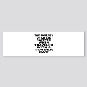 Traveled With toyger Cat Sticker (Bumper)