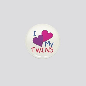 I heart my twins Mini Button