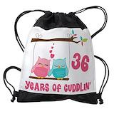 36th wedding anniversary Drawstring Bag