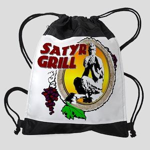 2-satyrgrilllogo Drawstring Bag