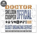 Sheldon Closet Organizing Puzzle