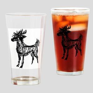 Buck Deer Drinking Glass