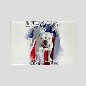 American Bulldog Rectangle Magnet