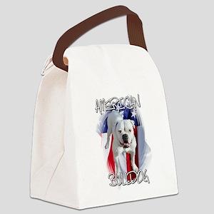 American Bulldog Canvas Lunch Bag