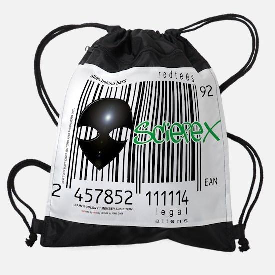 Alien 4.jpg Drawstring Bag