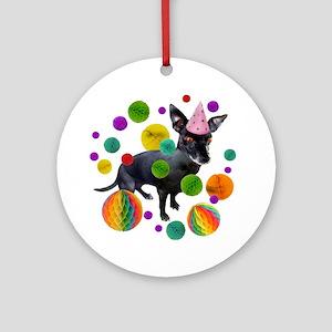 Birthday Pup Ornament (Round)
