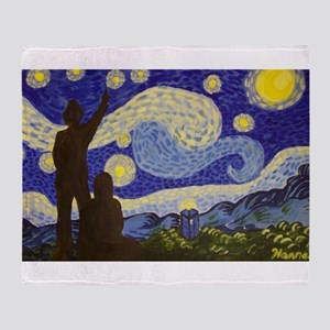 dr. Starry Night Throw Blanket