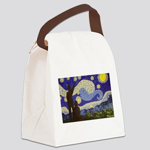 dr. Starry Night Canvas Lunch Bag